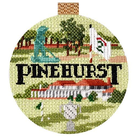 Sporting Round - Pinehurst with Stitch Guide Painted Canvas Kirk & Bradley