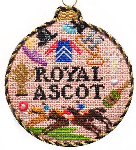 Sporting Round - Royal Ascot with Stitch Guide Painted Canvas Needlepoint.Com