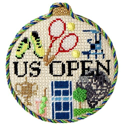 Sporting Round - US Open with Stitch Guide Painted Canvas Needlepoint.Com