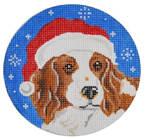 Springer Santa Painted Canvas Pepperberry Designs