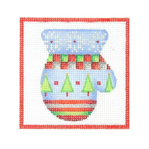 Square Ornament - Mitten Painted Canvas Burnett & Bradley