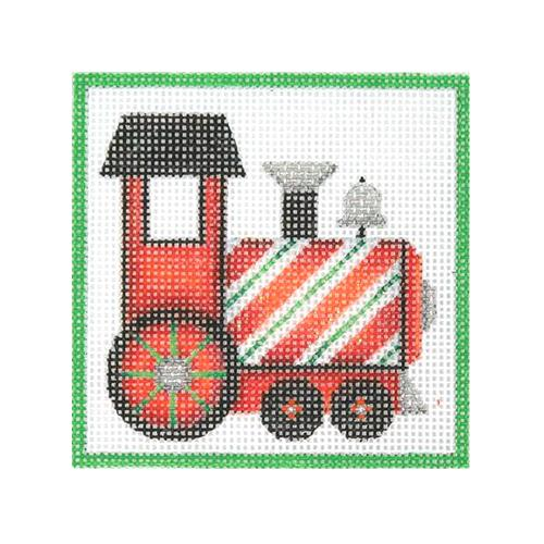 Square Ornament - Train Painted Canvas Burnett & Bradley