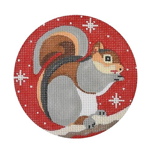 Squirrel Ornament Painted Canvas Melissa Prince Designs
