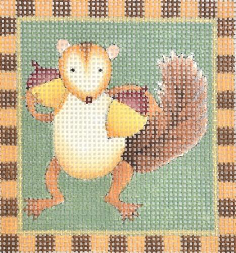 Squirrels - Acorn Squirrel Painted Canvas Melissa Shirley Designs