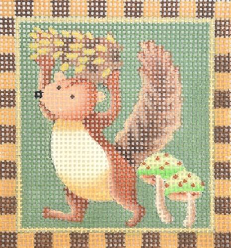 Squirrels - Pinecone Squirrel Painted Canvas Melissa Shirley Designs