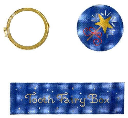 Star Tooth Fairy Box Painted Canvas Kate Dickerson Needlepoint Collections