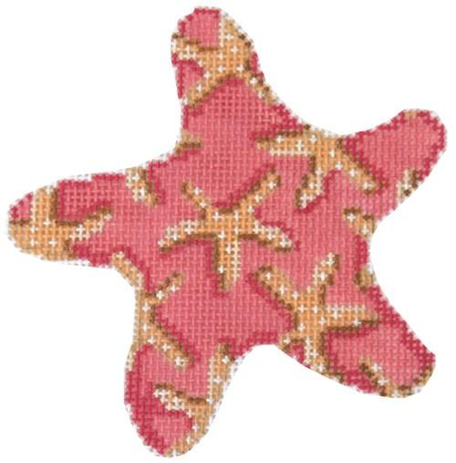 Starfish on Pink Starfish Ornament Painted Canvas Associated Talents