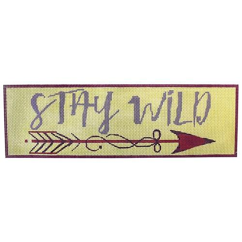 Stay Wild Painted Canvas Oasis Needlepoint