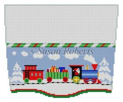 Stocking Topper - Train Painted Canvas Susan Roberts Needlepoint Designs, Inc.