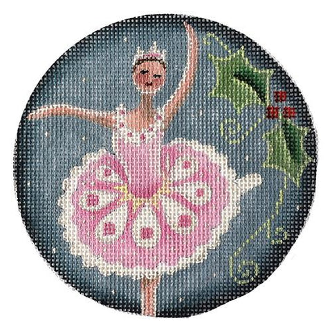 Sugar Plum Fairy Ornament Painted Canvas Rebecca Wood Designs