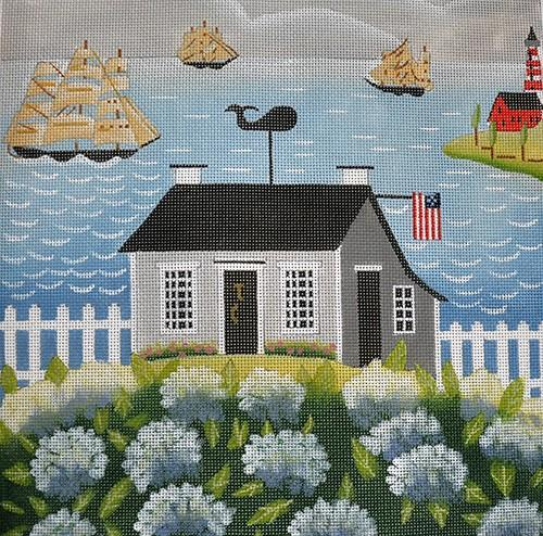 Summer at the Shore Painted Canvas Ewe & Eye