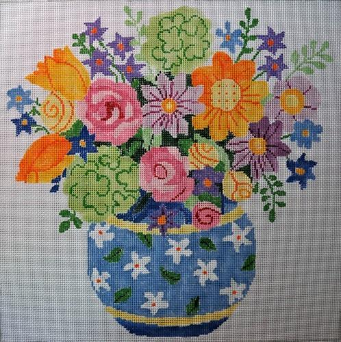 Summer Bouquet #3 Painted Canvas Jean Smith