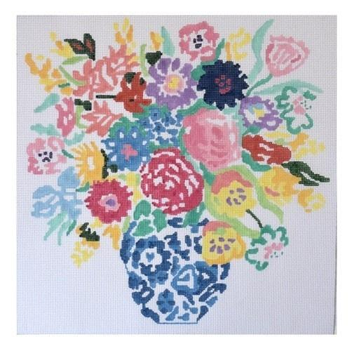 Summer Bouquet #8 Painted Canvas Jean Smith