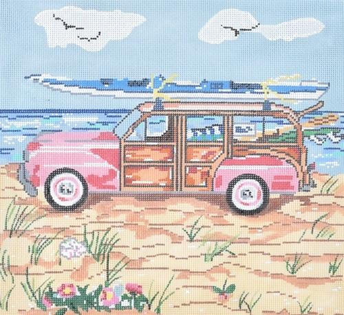 Summer Woody on 13 Painted Canvas Susan Wallace Barnes