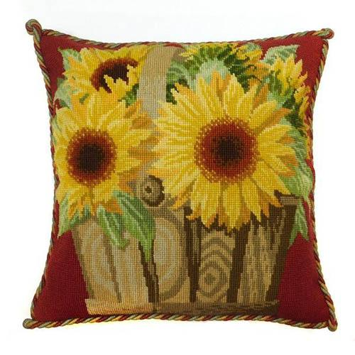 Sunflower Basket Needlepoint Kit Kits Elizabeth Bradley Design