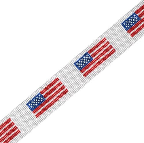 Sunglasses Strap - American Flag Painted Canvas HSN Designs