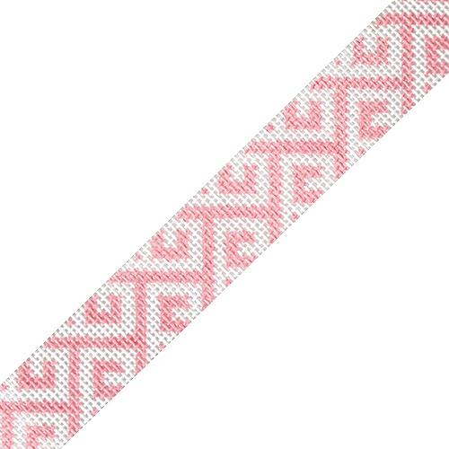 Sunglasses Strap - Greek Key Pink Painted Canvas HSN Designs