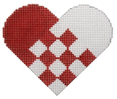 Swedish Paper Heart Painted Canvas Stitch-Its