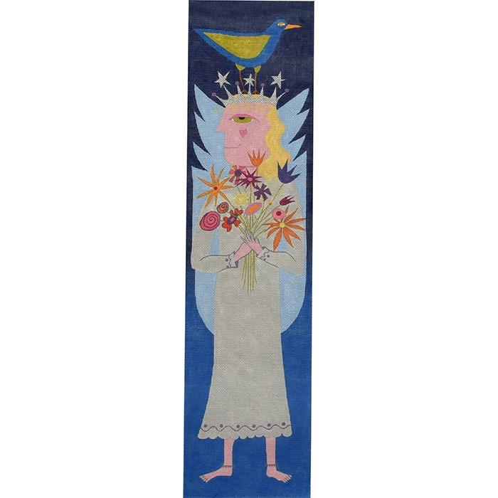 Tall Angel on 18 Painted Canvas Zecca