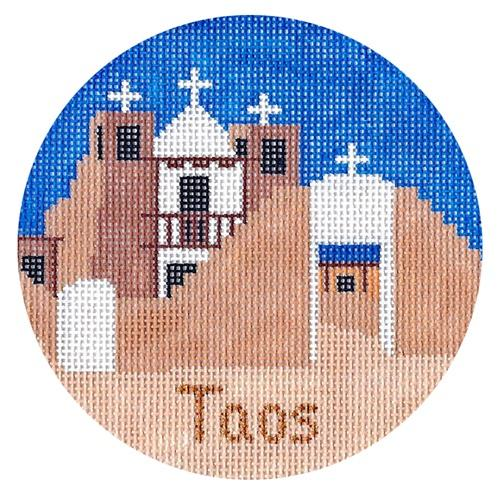 Taos Ornament Painted Canvas Silver Needle