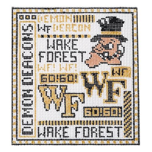 Teenie - Wake Forest Painted Canvas The Meredith Collection