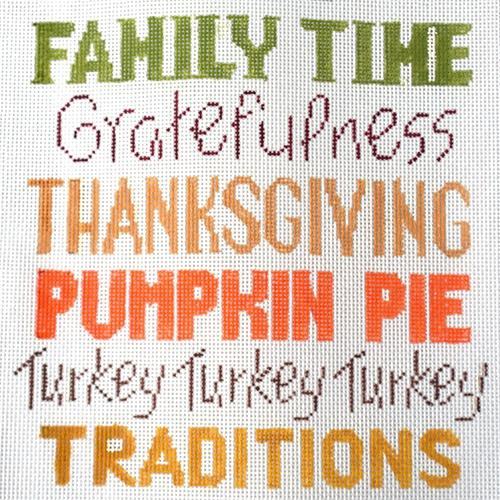 Thanksgiving Words Painted Canvas Alice Peterson Company