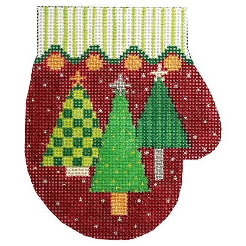 Three Trees Mitten Painted Canvas The Meredith Collection
