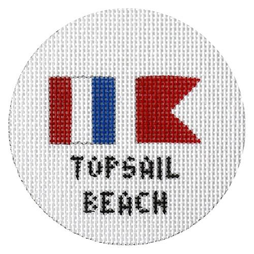 Topsail Beach Ornament Painted Canvas NeedleDeeva