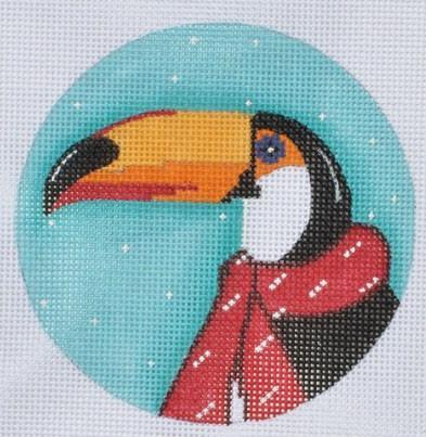 Toucan Ornament Painted Canvas Danji Designs