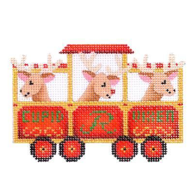 Train Series - Reindeer Car Painted Canvas Burnett & Bradley