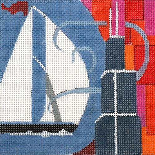 Travel Coaster - Chicago Painted Canvas Melissa Prince Designs