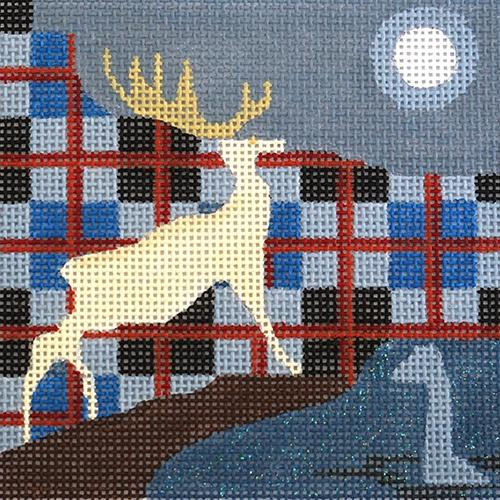 Travel Coaster - Scotland Painted Canvas Melissa Prince Designs