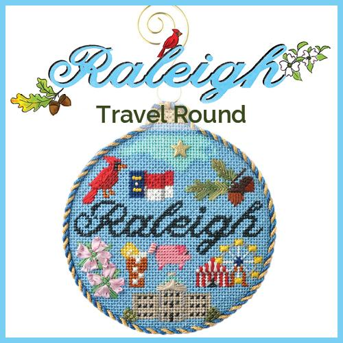 Travel Round Raleigh Needlepoint Kit Online Course Needlepoint.Com