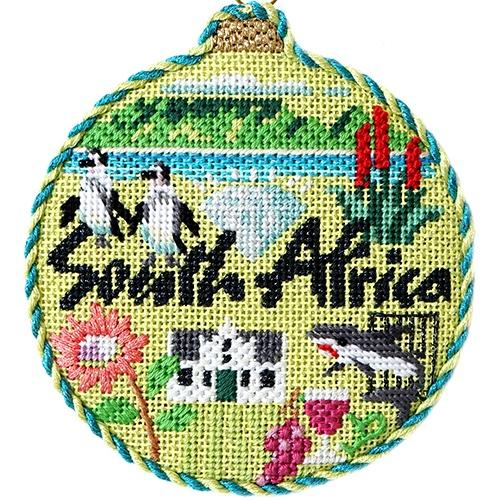 Travel Round - South Africa with Stitch Guide Painted Canvas Needlepoint.Com