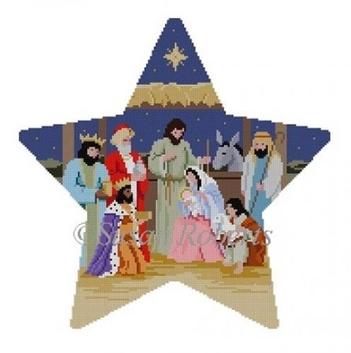 Tree Topper Nativity Painted Canvas Susan Roberts Needlepoint Designs, Inc.