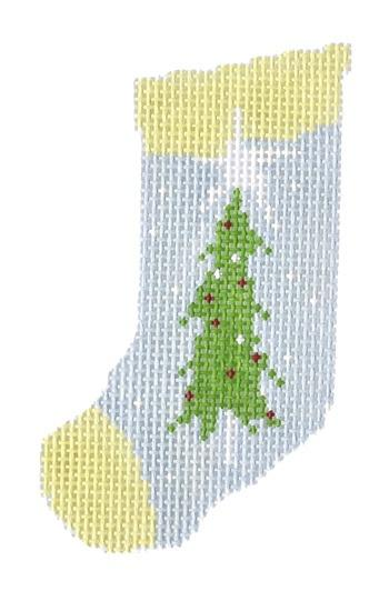 Trees Mini Sock Painted Canvas Pippin