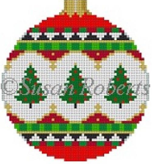 Trees Ornament Painted Canvas Susan Roberts Needlepoint Designs Inc.