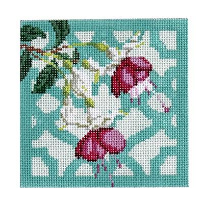Trellis Coaster - Fuchsia Painted Canvas Kirk & Bradley