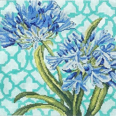 Trellis Square - Agapanthus Painted Canvas Kirk & Bradley