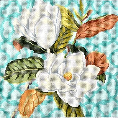 Trellis Square - Magnolia Painted Canvas Kirk & Bradley