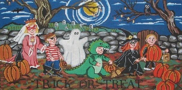 Trick or Treat Painted Canvas Cooper Oaks Design