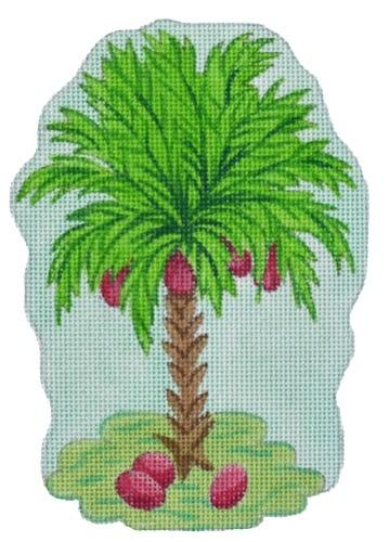 Tropical Mini - Palm Tree Painted Canvas Kate Dickerson Needlepoint Collections