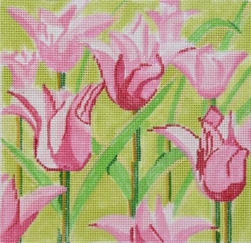 Tulips Painted Canvas Jean Smith