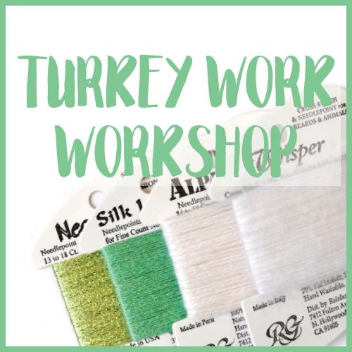Turkey Work Technique Class Online Course Needlepoint.Com