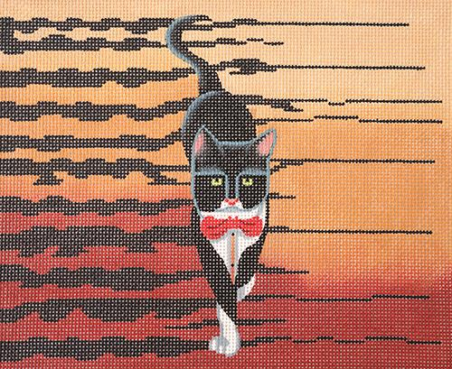 Tuxedo Tiger Painted Canvas Lee's Needle Art Inc.