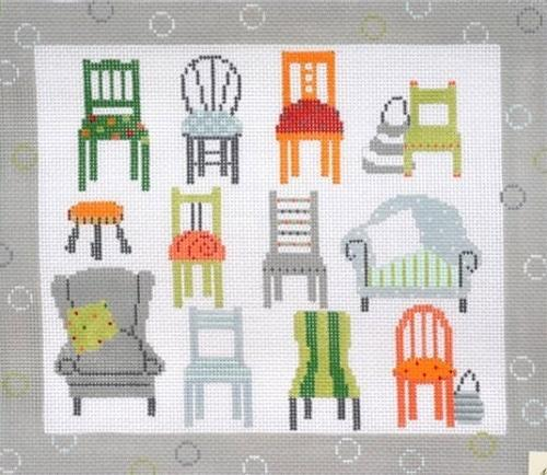 Twelve Chairs Painted Canvas Pippin