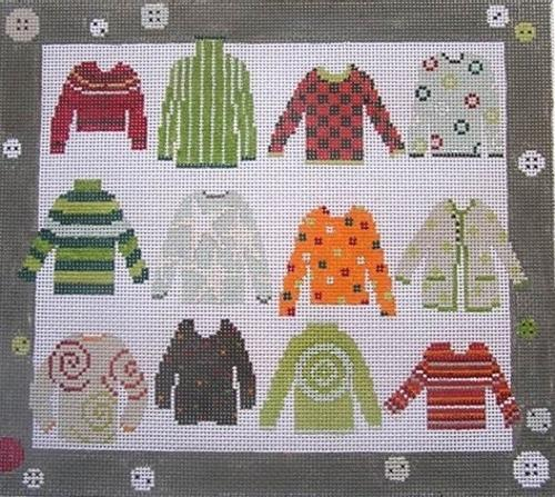 Twelve Sweaters Painted Canvas Pippin
