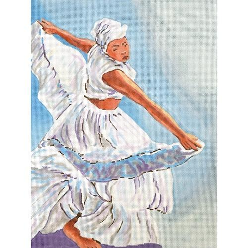 Twirling Lady Painted Canvas The Meredith Collection