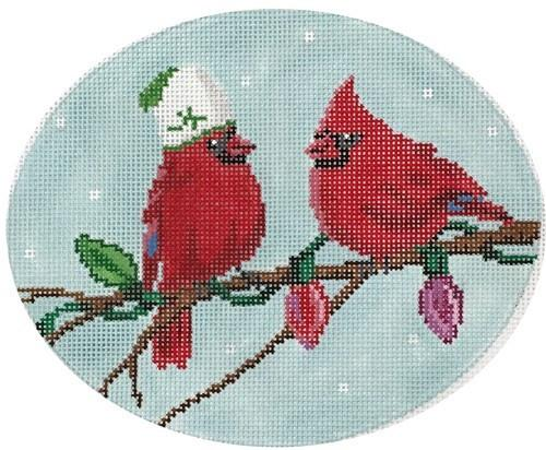 Two Cardinals Painted Canvas Scott Church Creative