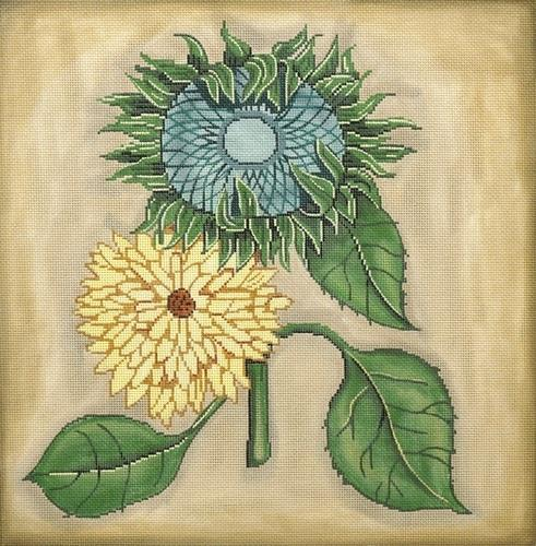 Two Sunflowers Painted Canvas Gayla Elliott